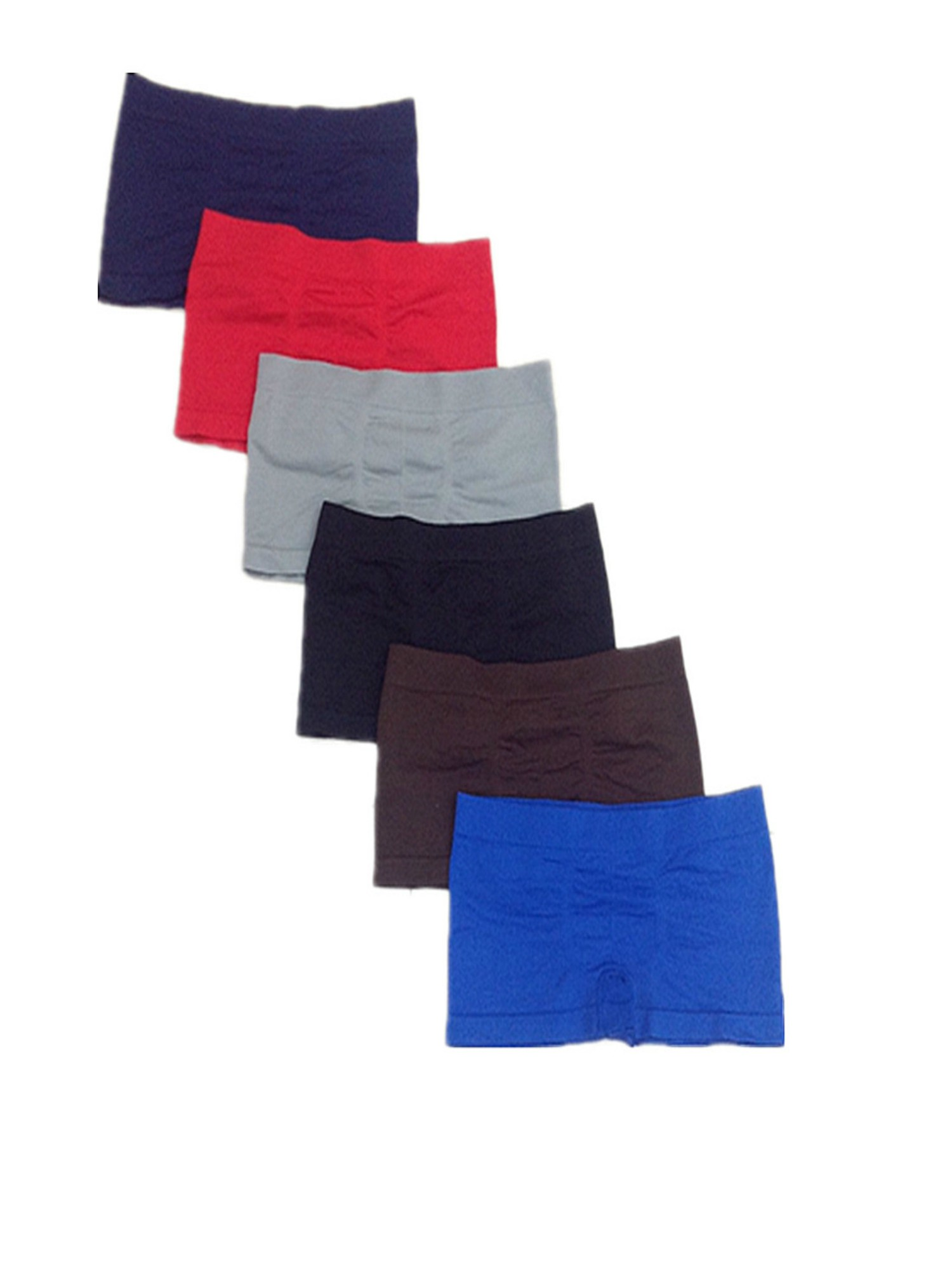 Boys 6-Pack Seamless Assorted Solid Colors Boxer Briefs - Small
