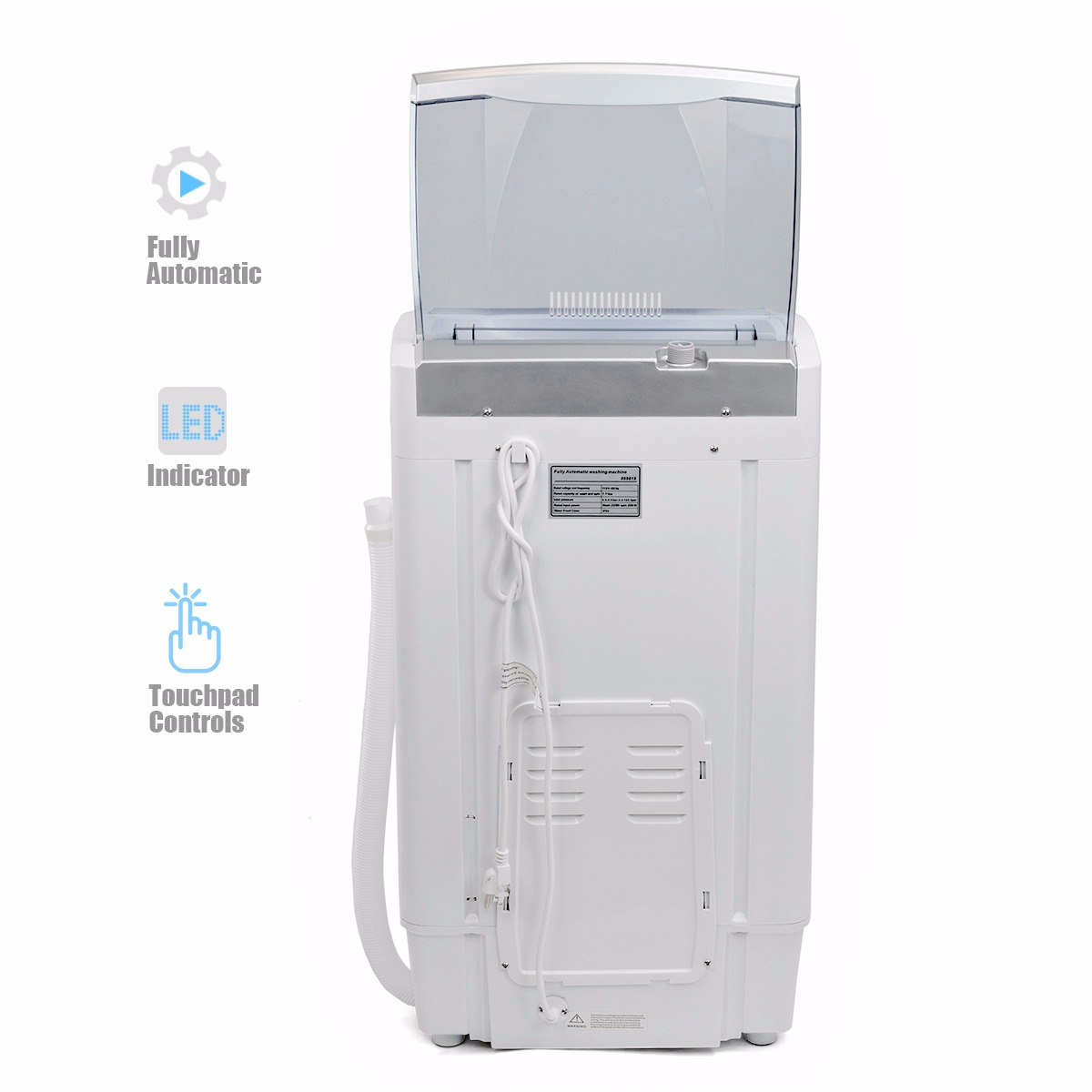 7.7LB Automatic MINI Washer and Spinner Dryer Portable Compact ...