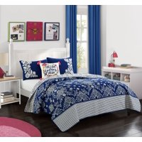 Better Homes & Gardens Reversible Flowing Floral Quilt Set