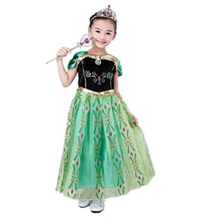 DreamHigh Little Girls Princess Cosplay Costume Dress 4T (Princess Peach Cosplay For Sale)