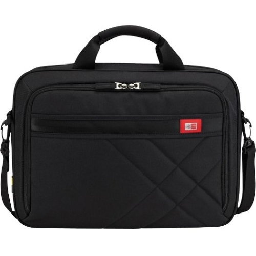 "Case Logic Dlc-115 Carrying Case For 15.6"" Notebook, Tablet, Cellular Phone, Ipod, Business Card, Cable, Smartphone - Black - Polyester - Handle, Shoulder Strap - 11.4"" Height X 16.1"" (dlc115black)"