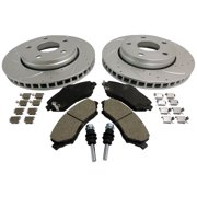 Crown Automotive 52060137DSK Performance Brake Kit; Incl. Drilled And Slotted Rotors; Pad Set And All Hardware; Front;