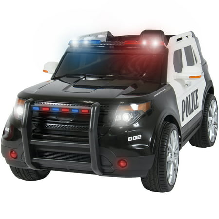 Best Choice Products 12V Ride On Car Police Car w/ Remote Control, 2 Speeds, LED Lights