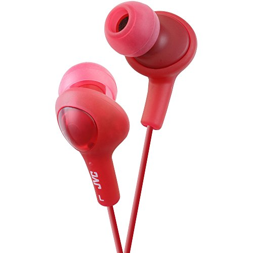 JVC HAFX5R Gumy Plus Inner Ear Headphones (Red)