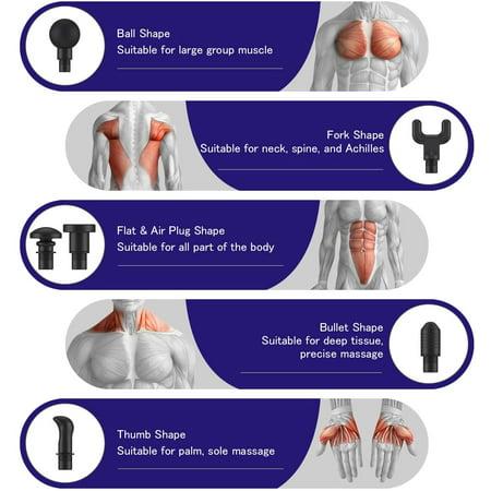 Massage Gun Deep Tissue Percussion Muscle Massager - image 6 of 6