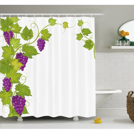 Ambesonne Grapes Latin Brochure Label Italian Town Province Vintage Menu Sign Artwork Shower Curtain (New Brochure Designs)