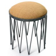 Upholstered Stool in Natural