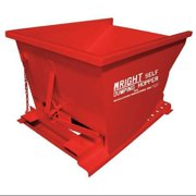 ZORO SELECT 2577 RED Self Dumping Hopper,4000 lb.,Red