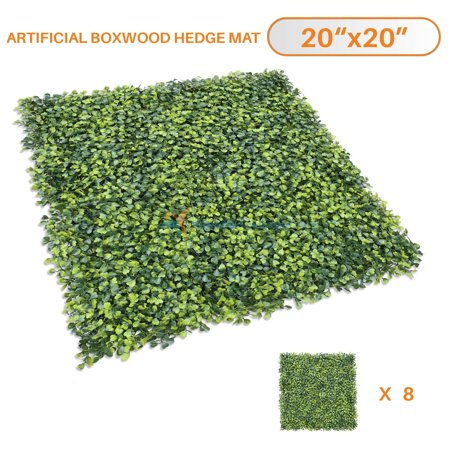 Sunshades Depot Artificial Boxwood Fence Privacy Screen, Evergreen Hedge Panels Plant Wall 20