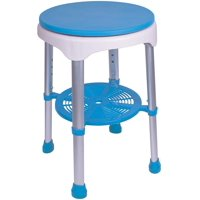 Carex Easy Swivel Shower Stool, Bath Stool with Storage Tray, Rotates 360 Degrees