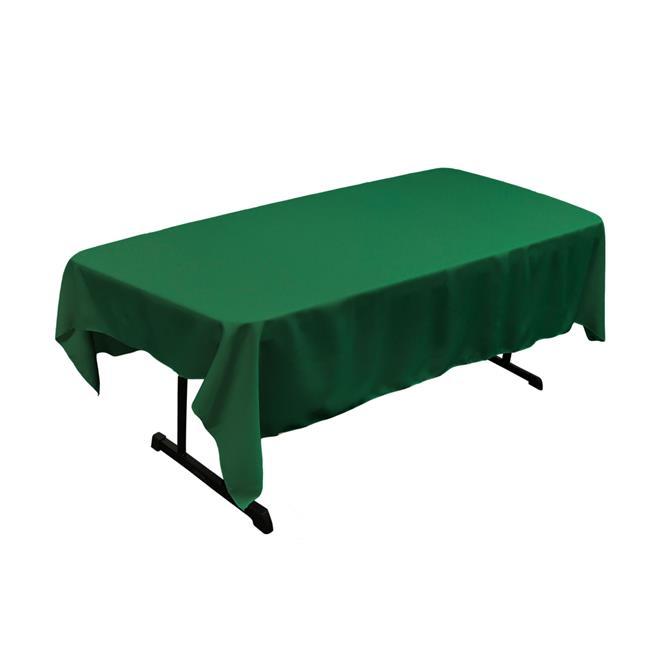 LA Linen TCpop60x90-GreenEmP32 Polyester Poplin Rectangular Tablecloth, Green Emerald - 60 x 90 in. - image 1 de 1