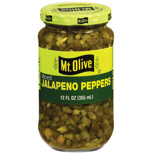 Mt. Olive Diced Jalapeno Peppers, 12 fl oz