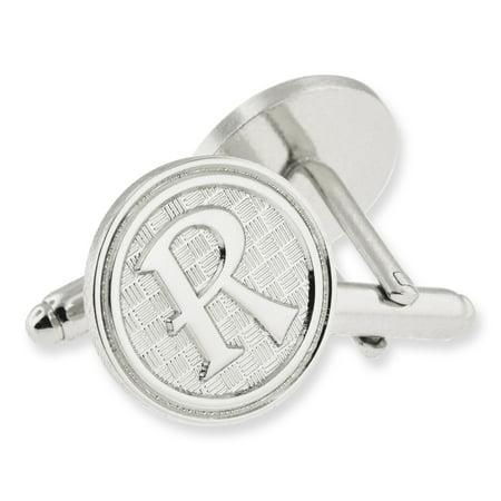Letter Alphabet Initials Cufflink Set - Silver