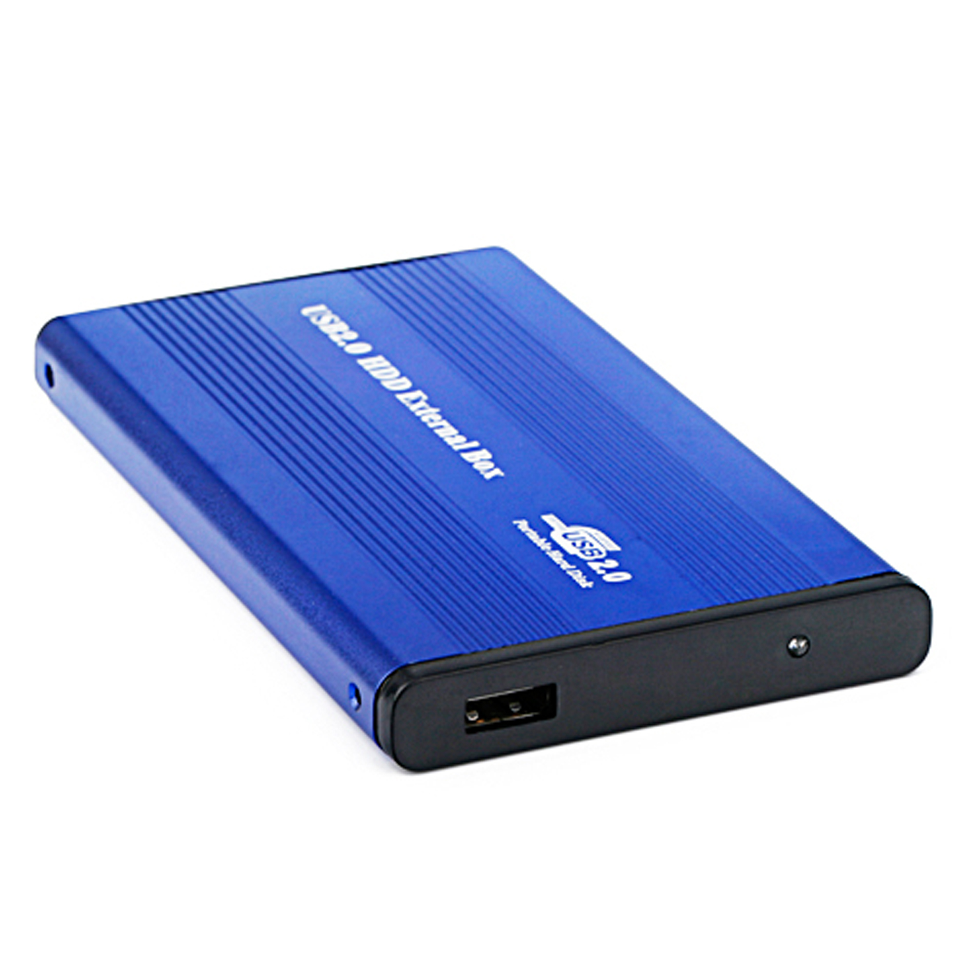 HDE USB 2.0 Aluminum External Hard Drive Enclosure Case Supports 2.5-inch IDE/PATA Drives Up To 500GB (Blue)