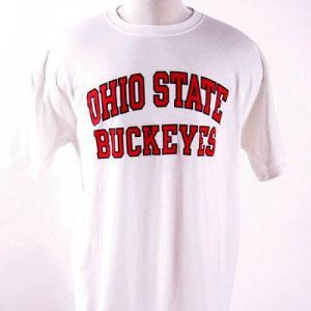 Ohio State Buckeyes T-shirt - Ohio State Arched Above buckeyes - By - White - Ohio State Parks Halloween