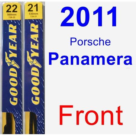 2011 Porsche Panamera Wiper Blade Set/Kit (Front) (2 Blades) - Premium