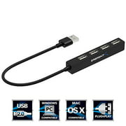 "Sabrent 4 Port Portable USB 2.0 Hub (9.5"" Cable) for Ultra Book, MacBook Air, Windows 8 Tablet PC (HB-MCRM)"