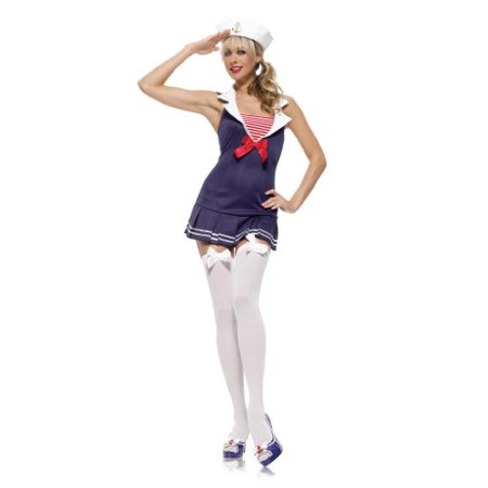 Secy Sailor Costume (Sailor Cadet Sexy 2Pc Sm Med)