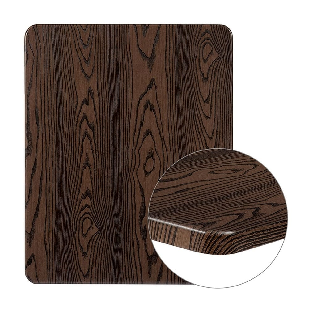 """Offex  24"""" x 30"""" Contemporary Rectangular Rustic Wood Laminate Table Top"""
