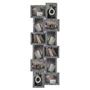 """Jerry & Maggie - Photo Frame 32x12 Ashes PVC Picture Frame Selfie Gallery Collage Wall Hanging for 6x4 Photo - 12 Photo Sockets - Wall Mounting Design - Selfie (Ashe, 32""""x12""""-12units)"""
