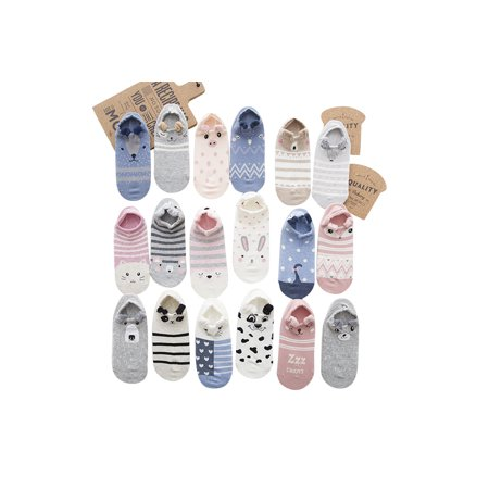 Ankle Socks With Cute Animal Designs 5 Pairs