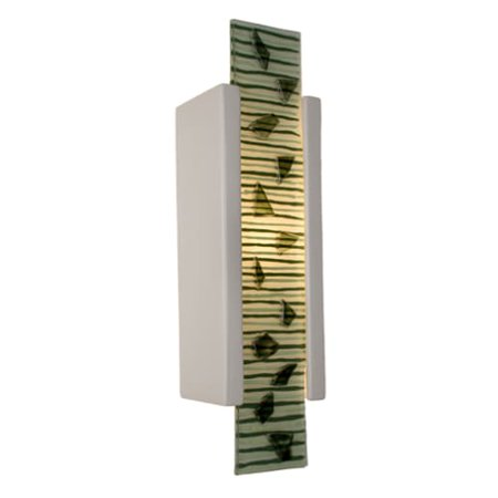 (A19 RE115 Zen Garden 1 Light Wall Washer Sconce from the reFusion Collection)
