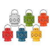 6-Pc Octagonal Tea Light Lantern Set