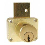 COMPX NATIONAL C8179-107-4 Deadbolt Drawer Lock,Brass