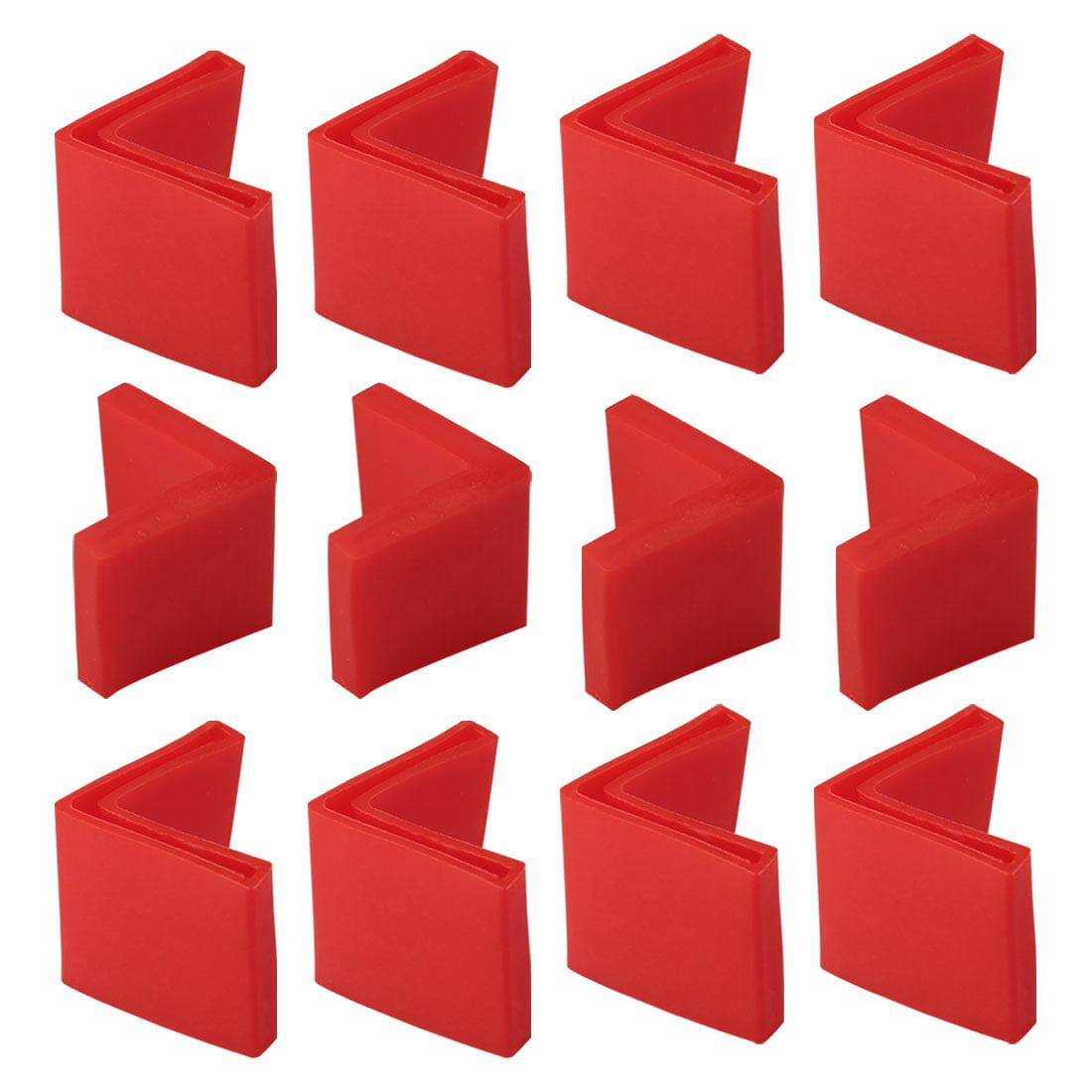 30mm x 30mm Angle Iron Foot Pad L Shaped PVC Leg Caps Floor Protector Red 12 Pcs - image 7 de 7