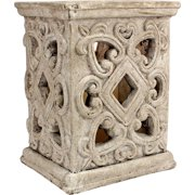 Large Cement Jar Candle Holder