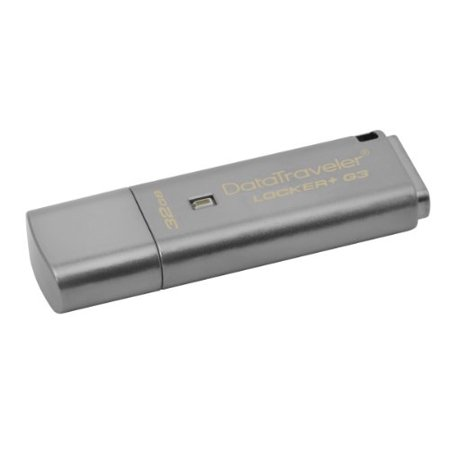Kingston 32Gb Datatraveler Locker  G3 Usb 3 0 Flash Drive   32 Gb   Silver   1 Pack   Encryption Support  Password Protection  Drop Proof  Dtlpg3 32Gb