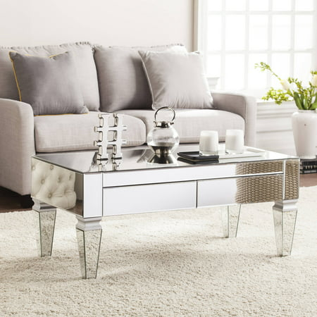 Dustox Mirrored Rectangular Coffee Table, Mirrored by Ember Interiors ()