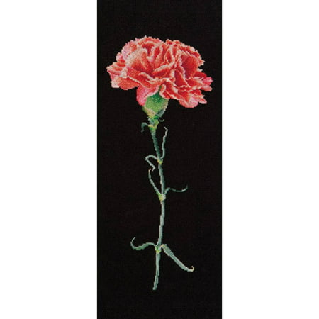 Carnation Cross - Carnation Red On Aida Counted Cross Stitch Kit, 6.5