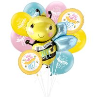 Little Honey Bee Gender Reveal Party Balloon Supplies, Include Foil Balloons