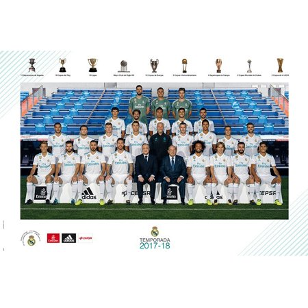 Real Madrid - Soccer Poster / Print (Team Photo) (Size: 36