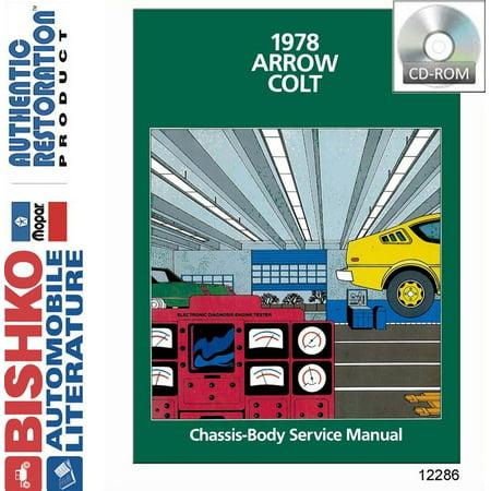 Bishko OEM Digital Repair Maintenance Shop Manual CD for Plymouth Arrow, Dodge Colt 1978 ()