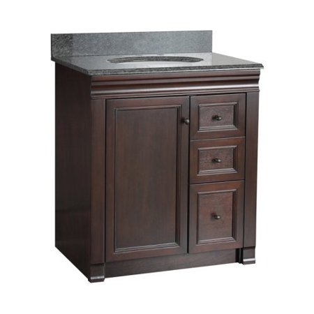 Foremost Shawna 30 In Single Bathroom Vanity With Left Side Drawers
