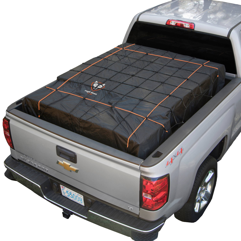 SKYTOU Cargo Net Short Truck Bed Cargo Net 78 x 50 Heavy Duty Cargo Nets for Pickup Trucks with Cam Buckles /& S-Hooks