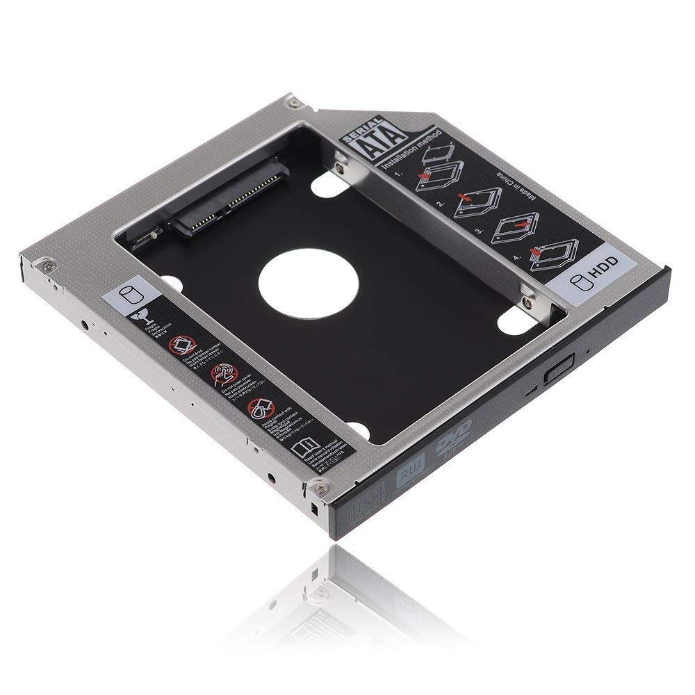 UniLink (TM) SATA 2nd HDD HD Hard Drive Caddy Case for 9 5mm Universal  Laptop CD / DVD-ROM Optical Bay