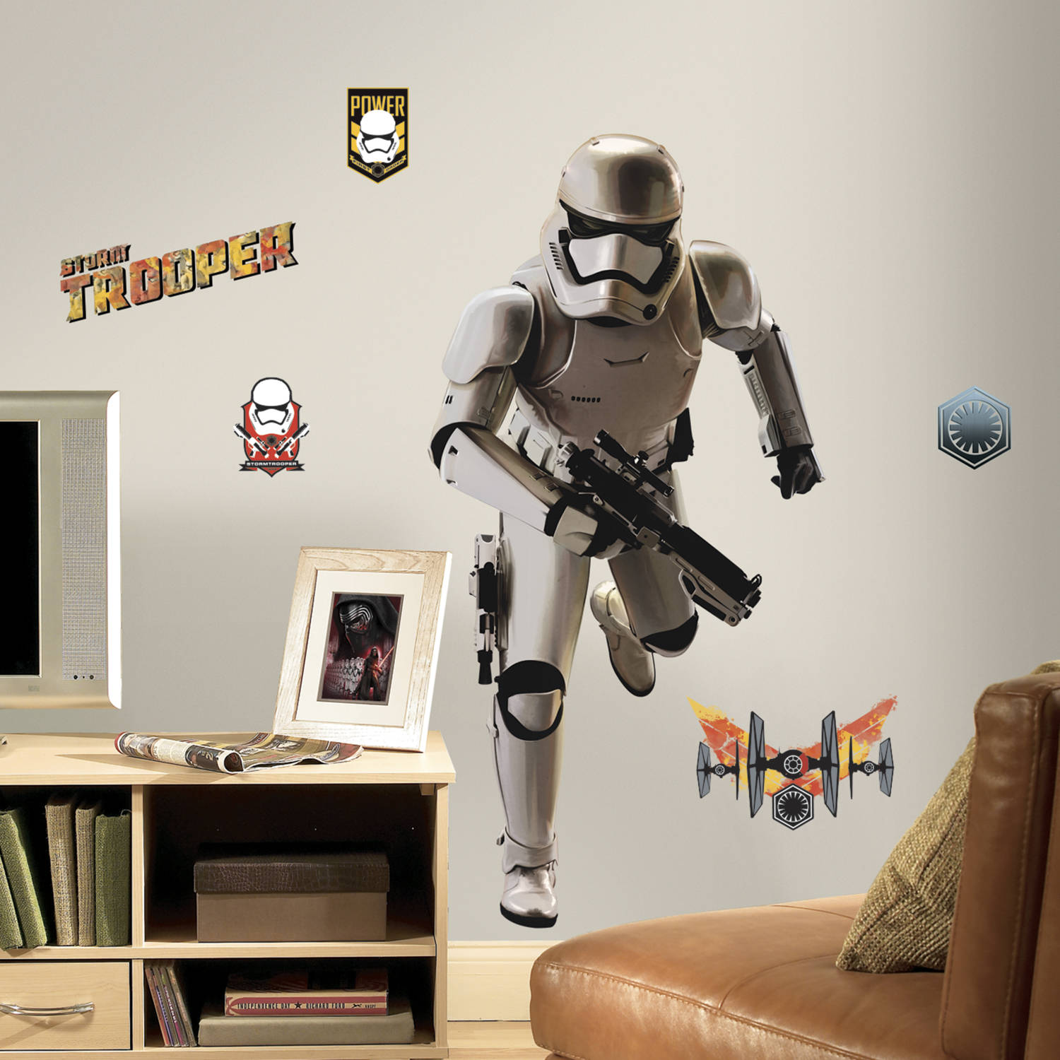 RoomMates Star Wars Episode VII Storm Trooper Peel and Stick Giant Wall Decal