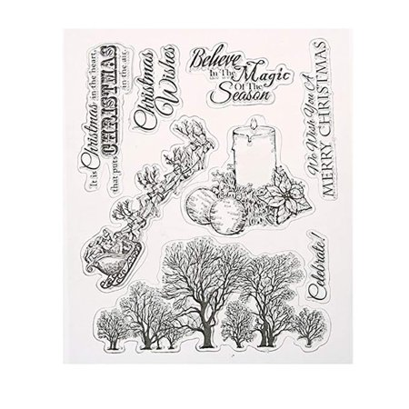 - Christmas Clear Stamp for DIY Scrapbooking Album Paper Cards Making Decor
