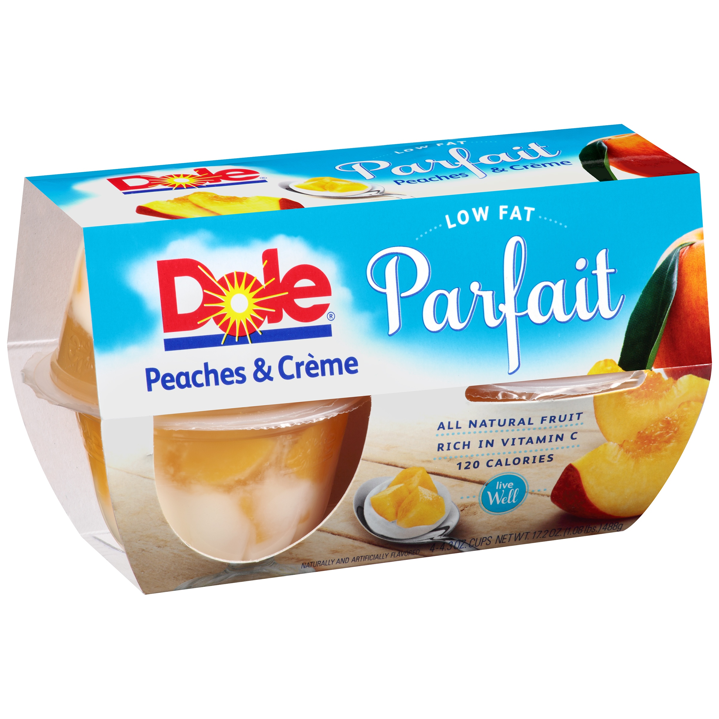 Dole Parfait Peaches & Cr��me, 4.3 oz, 4 count