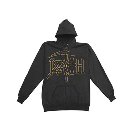 Death Men's  The Sound Of Perseverance Zippered Hooded Sweatshirt - Darth Hoodie