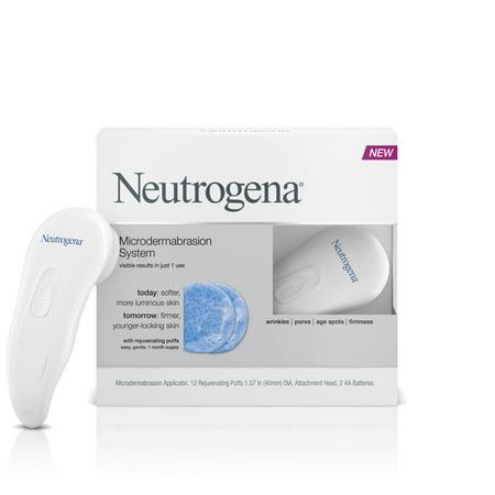 Neutrogena Microdermabrasion Kit, 1 Month Skin Exfoliator w/ Glycerin, 1
