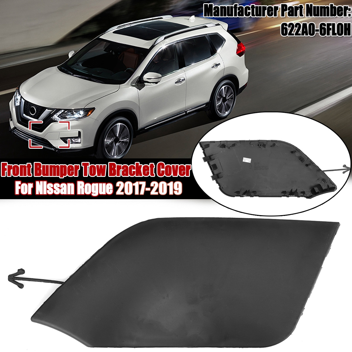 For 2016-2018 Nissan Altima Bumper Cover Retainer Front 47546VG 2017