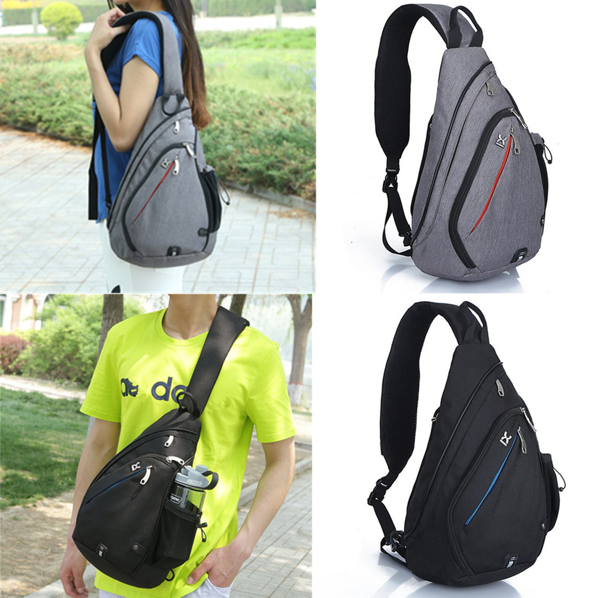 Sling Chest Bag Shoulder Backpack Crossbody Bag Daypack For Sport Travel School