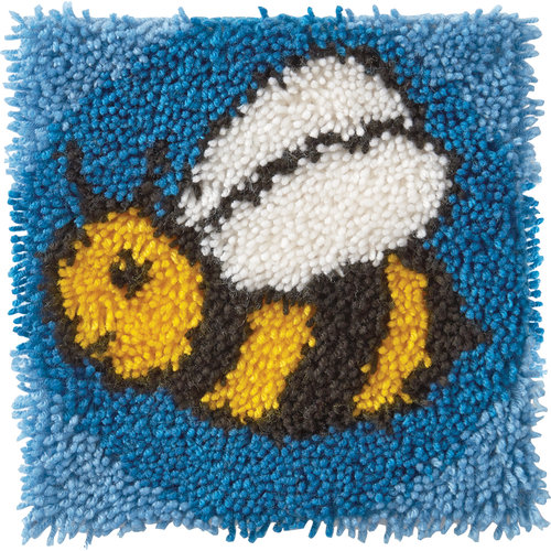 "Wonderart Latch Hook Kit, 12"" x 12"", Bumblebee"