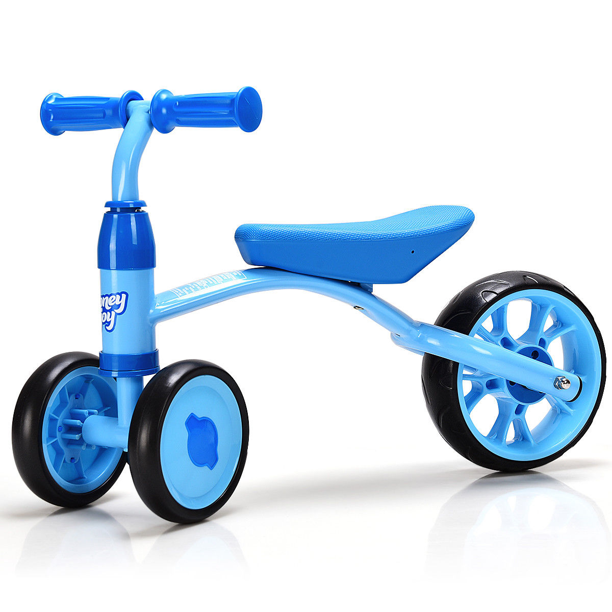 Costway 3 Wheels Kids Balance Bike Tricycle Toy Rides Baby Walker No Foot Pedal Blue