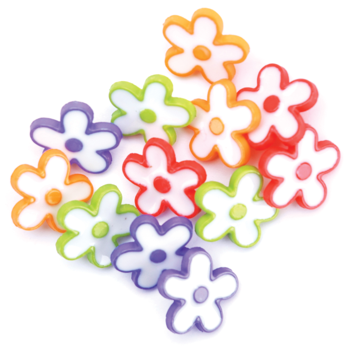 Blumenthal Lansing Favorite Findings Buttons, Daisy Dots, 11/Pkg Multi-Colored