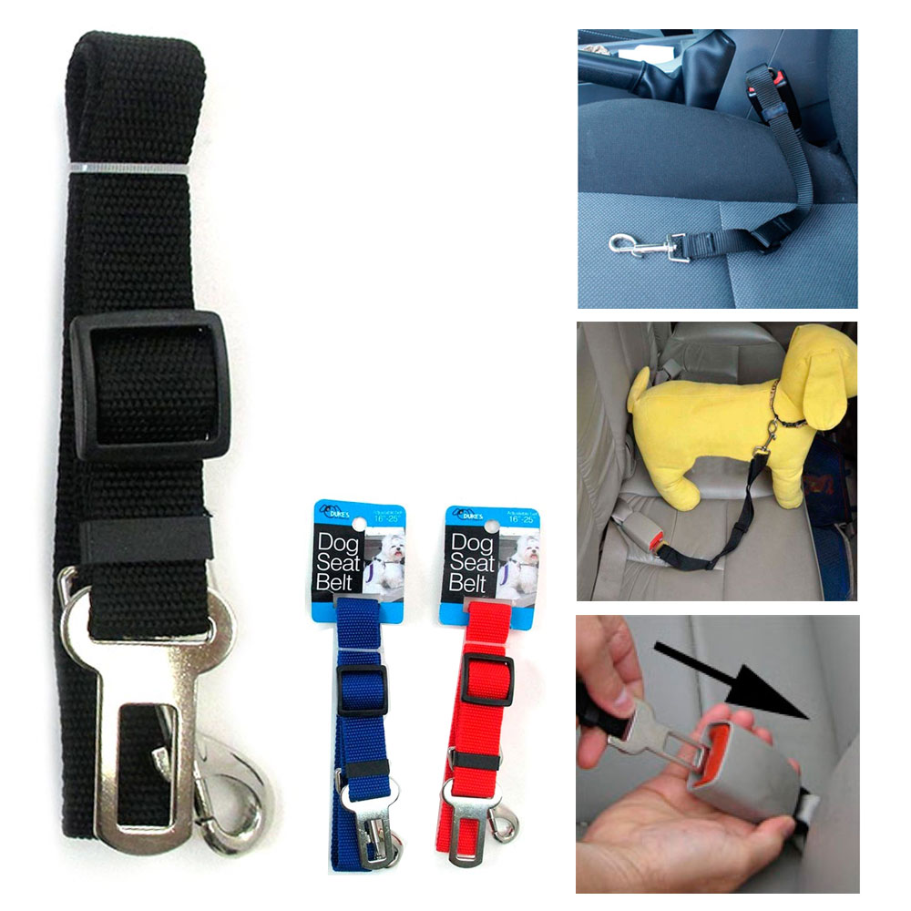 2pc Cat Dog Pet Safety Car Vehicle Strap Seat Belt Adjustable Harness Lead New